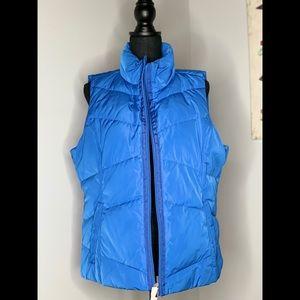 NWT Women's Land's End Blue Puffer Vest Size L